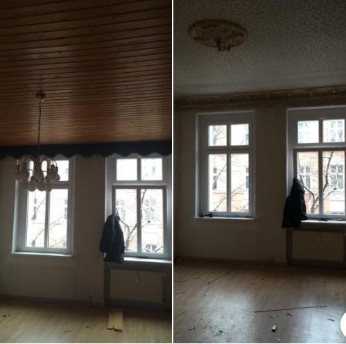 Abrissarbeiten - Wohnungsauflösung Berlin Deckenpanellen