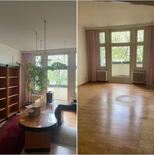 Wohnungsauflösung Berlin - Vorher Nachher - Chefzimmer mit Schreibtisch entsorgen
