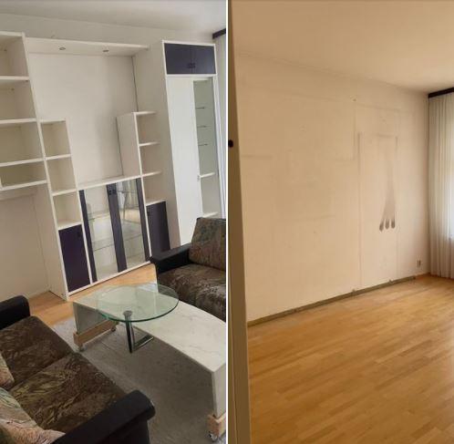 Wohnungsauflösung Berlin - Vorher Nachher - Wandschrank Couch entsorgen
