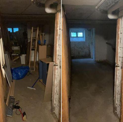 Keller entrümpelung - Keller voller Sperrmüll - Keller ausmisten Berlin - Besenreine Keller entrümpelung vorher nachher
